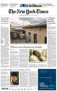 International New York Times - 17 September 2018