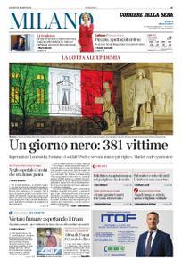 Corriere della Sera Milano – 21 marzo 2020