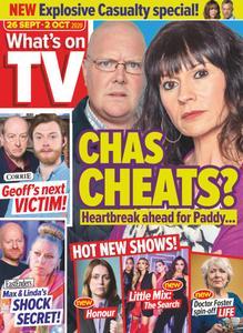 What's on TV - 26 September 2020