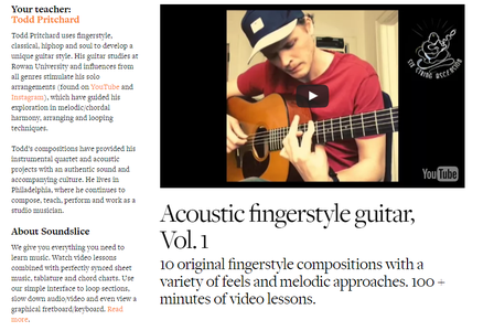 Soundslice - Acoustic fingerstyle guitar Vol. 1 with Todd Pritchard