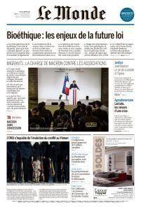 Le Monde du Jeudi 18 Janvier 2018