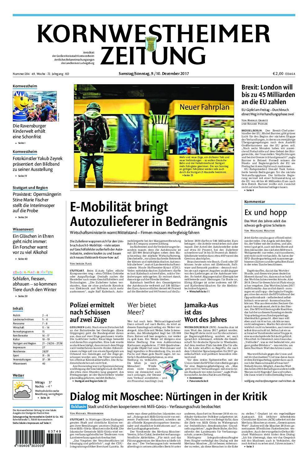 Kornwestheimer Zeitung - 09. Dezember 2017