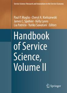 Handbook of Service Science, Volume II