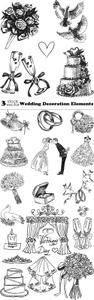 Vectors - Wedding Decoration Elements