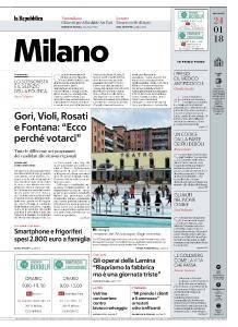 la Repubblica Milano - 24 Gennaio 2018