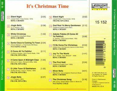 Bing Crosby/Frank Sinatra/Nat King Cole - It's Christmas Time (1989) {1992 LaserLight} **[RE-UP]**
