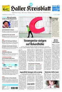 Haller Kreisblatt – 23. November 2019