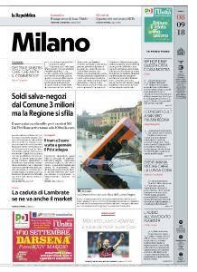la Repubblica Milano - 8 Settembre 2018