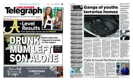 Lancashire Telegraph (Burnley, Pendle, Rossendale) – August 16, 2019