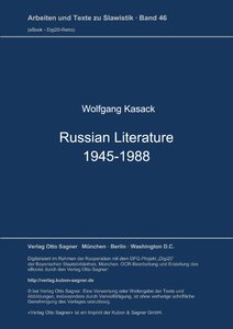 "Wolfgang Kasack, ""Russian literature 1945-1988"""