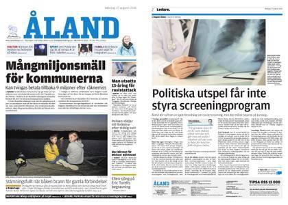 Ålandstidningen – 27 augusti 2018