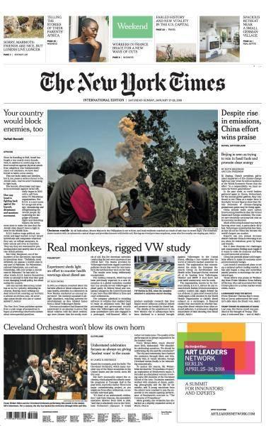 International New York Times - 27-28 January 2018