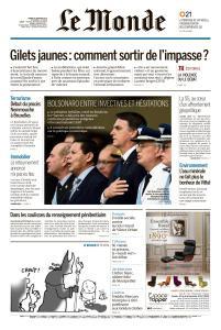 Le Monde du Mardi 8 Janvier 2019