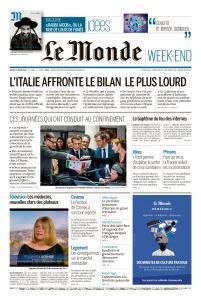 Le Monde du Samedi 21 Mars 2020