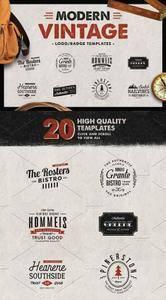 CreativeMarket - Modern Vintage - Logo Templates
