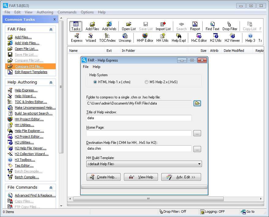 Common Utility Programs Editor