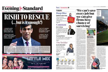 London Evening Standard – September 24, 2020