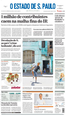 Jornal O Estado de SP em PDF, Quinta, 24 de Dezembro de 2009