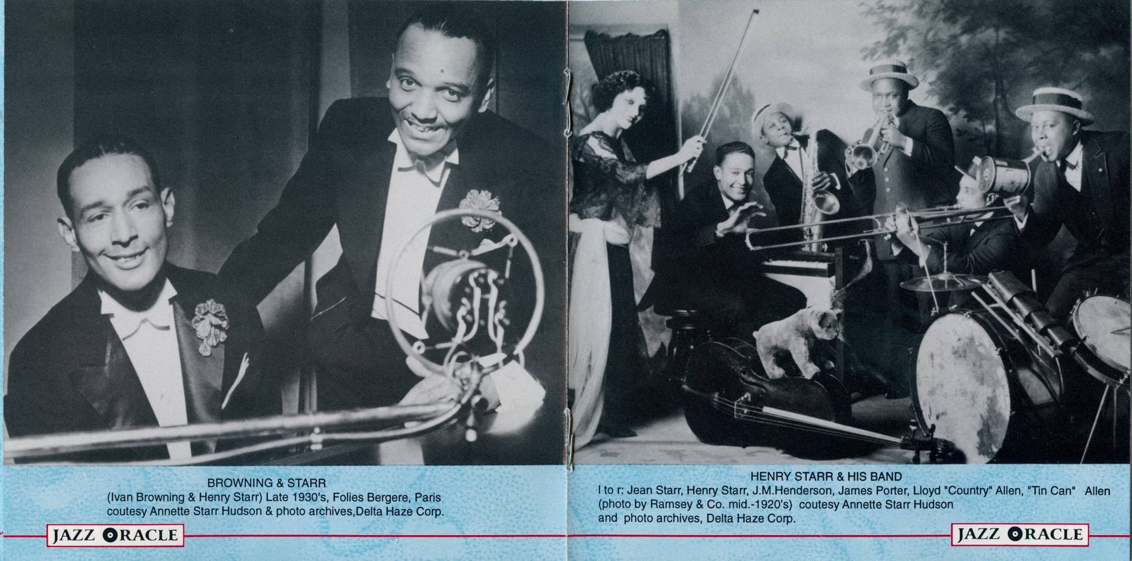 Curtis Mosby and Henry Starr - Recorded On The West Coast And London, 1924-1939 (1996) {Jazz Oracle BDW8003}