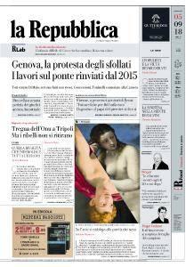 la Repubblica - 5 Settembre 2018
