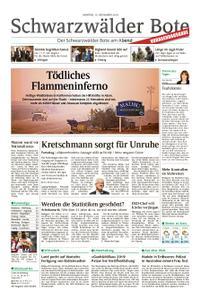 Schwarzwälder Bote St. Georgen, Triberg, Furtwangen - 12. November 2018