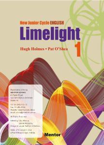 Limelight 1: New Junior Cycle English by Hugh Holmes, Pat O'Shea