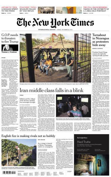 International New York Times - 28 December 2018