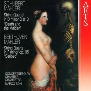 Concertgebouw CO, Marco Boni - Schubert & Beethoven: String Quartets arrangements for string orchestra by Gustav Mahler (1998)
