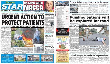 Shropshire Star Shrewsbury Edition – September 07, 2018