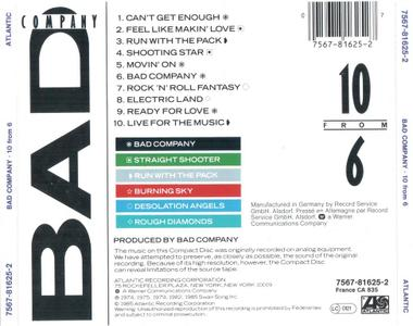 Bad Company - 10 From 6 (1985)