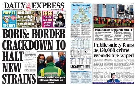 Daily Express – January 16, 2021