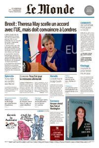 Le Monde du Jeudi 15 Novembre 2018