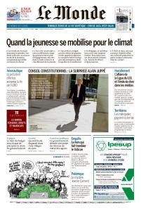 Le Monde du Vendredi 15 Février 2019