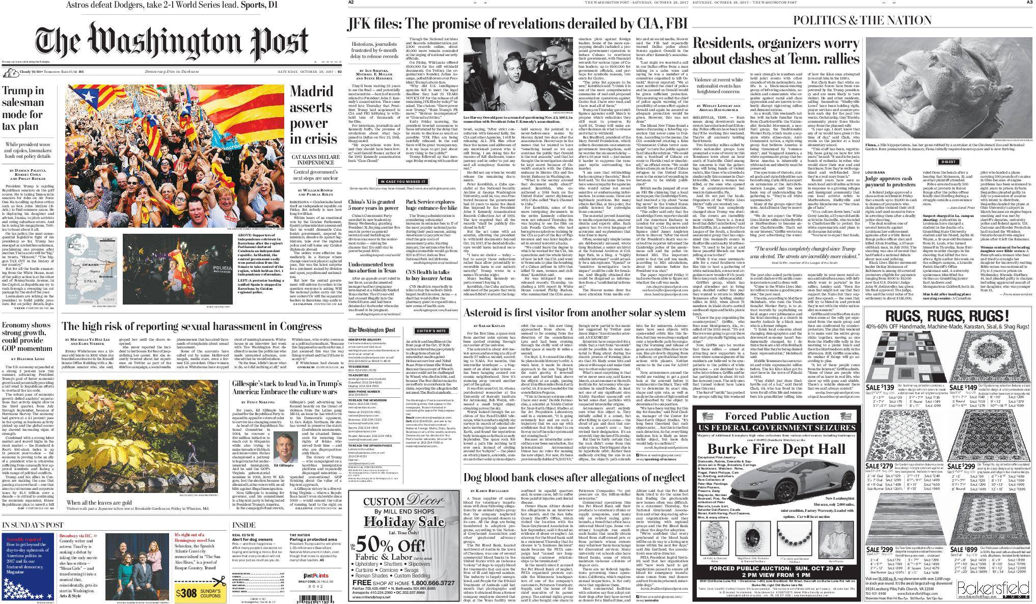 The Washington Post – October 28, 2017