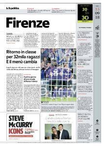 la Repubblica Firenze - 15 Settembre 2018