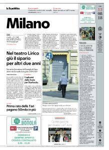 la Repubblica Milano - 13 Agosto 2018