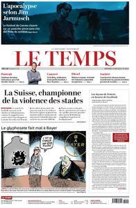 Le Temps - 15 mai 2019