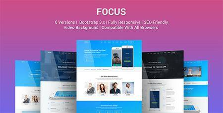 ThemeForest - Focus v1.0 - Multi Purpose App Landing Page Template - 19357502