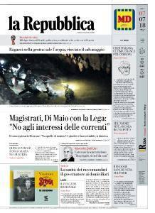 la Repubblica - 7 Luglio 2018