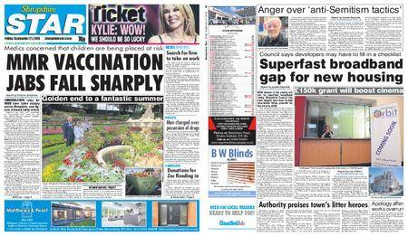 Shropshire Star Shrewsbury Edition – September 21, 2018