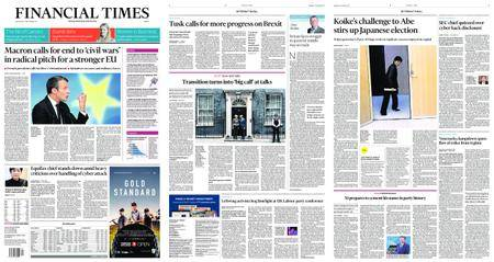 Financial Times Europe – September 27, 2017