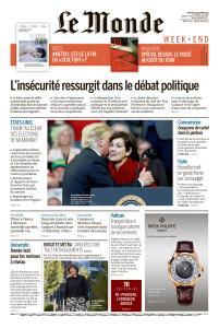 Le Monde du Samedi 20 Octobre 2018