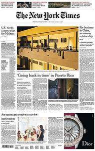 International New York Times - October 26, 2017