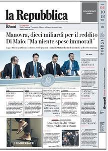 la Repubblica - 4 Ottobre 2018
