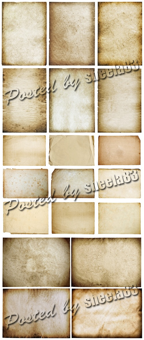 Stock Photo - Old Paper Sheets 2