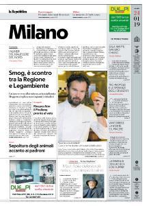 la Repubblica Milano - 24 Gennaio 2019