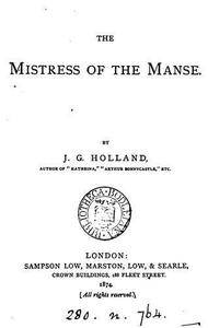 The mistress of the manse, a poem